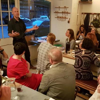 David at the Sustainable Food Pop-up Meal